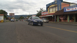 HD2009-11-11-17 traffic Costa rican town Stock Video Footage