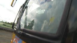 HD2009-11-11-23b dutch tilt idiling highway busses Stock Video Footage
