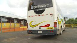 HD2009-11-11-25 departing highway bus Stock Video Footage