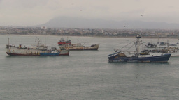 HD2009-11-12-1 fishing boats in harbor Ecuador Stock Video Footage
