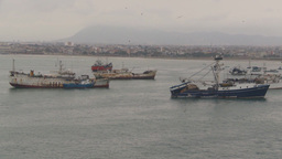 HD2009-11-12-1 fishing boats in harbor Ecuador Footage