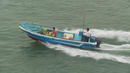 HD2009-11-12-3 fish skiff motoring Stock Video Footage