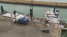 HD2009-11-12-9 refrig unloading tuna Stock Video Footage