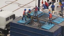 HD2009-11-12-11 refrig unloading tuna Footage