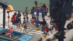 HD2009-11-12-13 refrig unloading tuna Footage