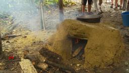 HD2009-11-12-35 sugar cane still fire pour liquid Stock Video Footage