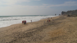 HD2009-11-13-11 people on beach Ecuador Stock Video Footage