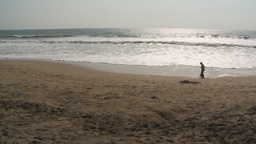 HD2009-11-13-13 boy on beach Ecuador Stock Video Footage