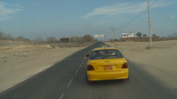 HD2009-11-13-25 pass taxi black pave drive dry country Stock Video Footage