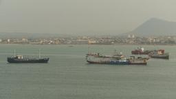 HD2009-11-13-39 tuna boats in harbor Stock Video Footage