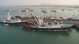 HD2009-11-14-7 tuna boat at docks Stock Video Footage