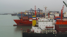 HD2009-11-14-19 cargo ships port Peru Footage