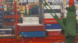 HD2009-11-14-21 cargo ships port Peru Z Footage