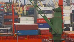 HD2009-11-14-21 cargo ships port Peru Z Stock Video Footage
