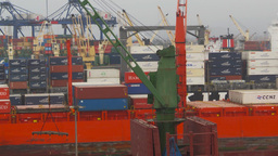 HD2009-11-14-21 cargo ships port Peru Z Stock Video Footage
