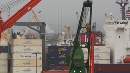 HD2009-11-14-23 containor ships many Stock Video Footage