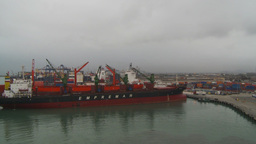 HD2009-11-14-25 containor ships Stock Video Footage