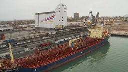 HD2009-11-14-27 cargo ship Stock Video Footage
