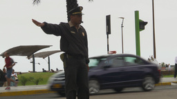 HD2009-11-15-4 policeman directs traffic Footage