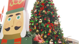 HD2009-11-15-16 Xmastree Stock Video Footage