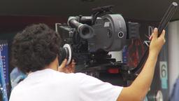 HD2009-11-15-18 film crew Arri 16 Stock Video Footage