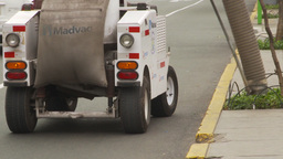 HD2009-11-15-30 street cleaning vacumn machine Stock Video Footage