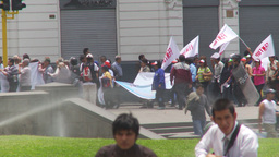 HD2009-11-15-34 protest march Stock Video Footage