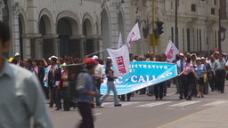HD2009-11-15-36 protest march Footage