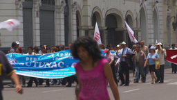 HD2009-11-15-36 protest march Stock Video Footage