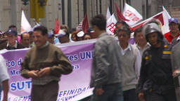 HD2009-11-15-38 protest march Stock Video Footage
