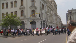 HD2009-11-15-40 protest march Stock Video Footage