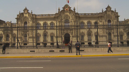 HD2009-11-16-3 zoom Gov house Lima Stock Video Footage
