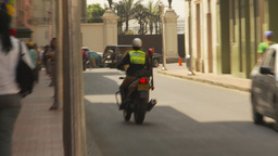 HD2009-11-16-9 police motorbike Stock Video Footage