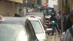 HD2009-11-16-15 traffic Lima Stock Video Footage