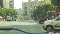 HD2009-11-16-25 traffic through windshield Stock Video Footage