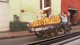 HD2009-11-16-27 motorbike trike with fruit Stock Video Footage