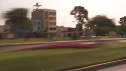 HD2009-11-16-33 blur driving through commercial blocks Stock Video Footage