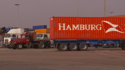 HD2009-11-16-39 containor trucks Stock Video Footage