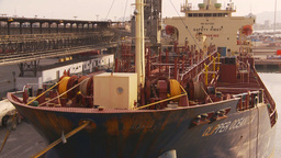 HD2009-11-16-53 cargo ship at dock Stock Video Footage