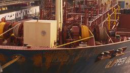 HD2009-11-16-55 cargo ship at dock Z Stock Video Footage
