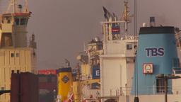 HD2009-11-17-2 cargo ship z Stock Video Footage