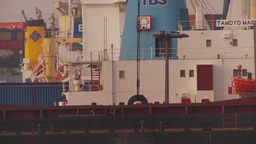 HD2009-11-17-4 cargo ship unloading Stock Video Footage