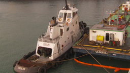 HD2009-11-17-6 tug and fuel barge Footage