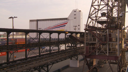 HD2009-11-17-8 crane and dock Stock Video Footage