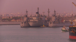 HD2009-11-17-14 navy ships at dusk Footage