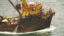 HD2009-11-18-4 fishing boat heading out to sea Footage
