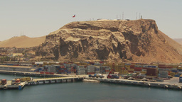 HD2009-11-18-8 Arica, pan from containor port Stock Video Footage