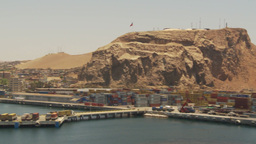 HD2009-11-18-8 Arica, pan from containor port Footage