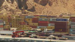 HD2009-11-18-10 Arica containor port Stock Video Footage