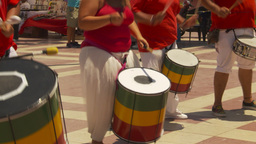 HD2009-11-18-12 drummers drumming Stock Video Footage